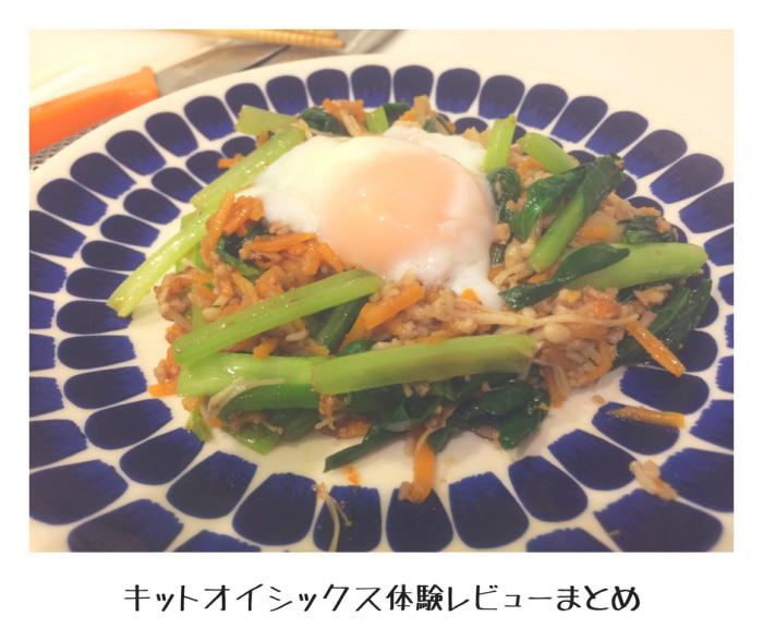 【Kit Oisix】ジューシーそぼろと野菜のビビンバレビューまとめ